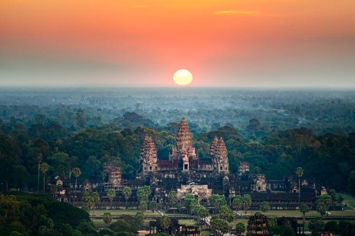 Sunrise in Cambodia