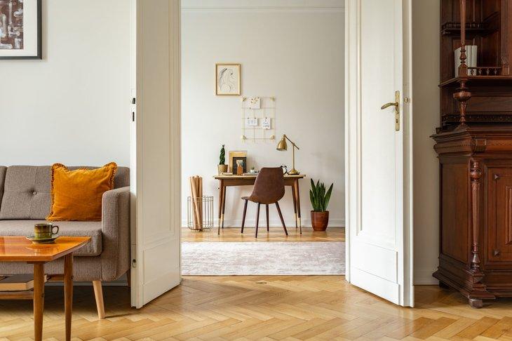 Home with wide doorway