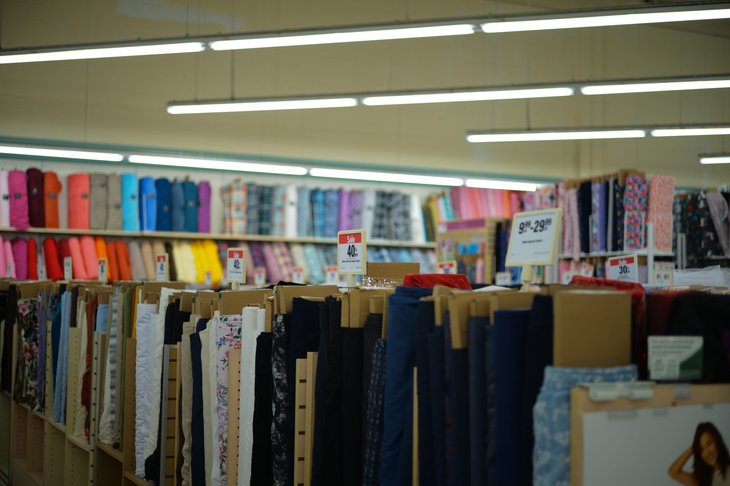 Fabric at a Joann store