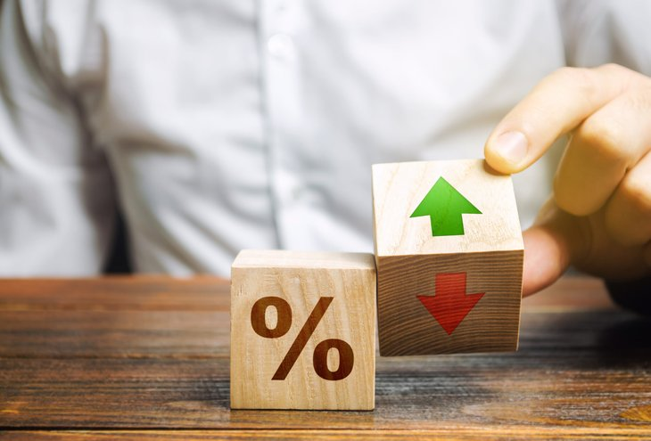 Interest rates increasing decreasing