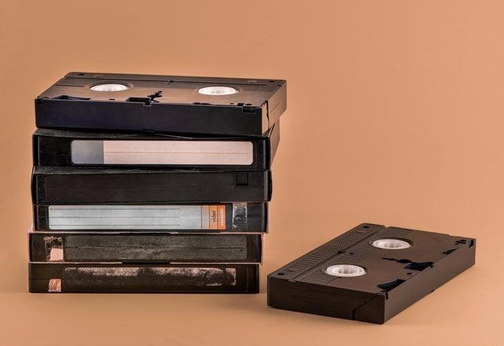 VHS cassette tapes