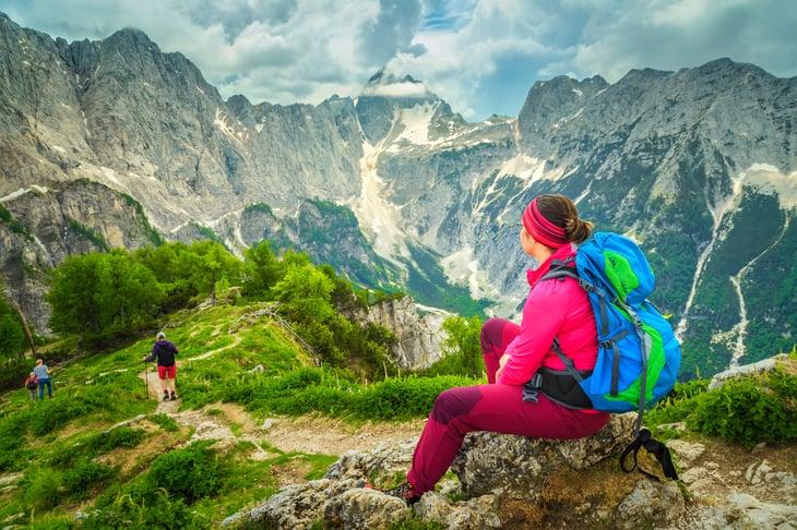 Hiking in the Julian Alps, Slovenia