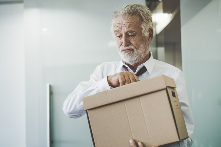 Laid-off senior worker