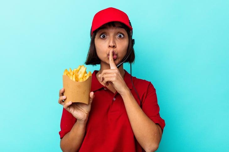 Female fast-food worker