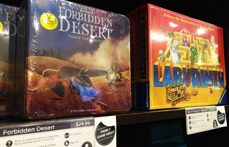 In Forbidden Desert, players must cooperate with each other to survive.