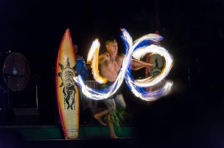 Dancer at a Luau in Oahu.