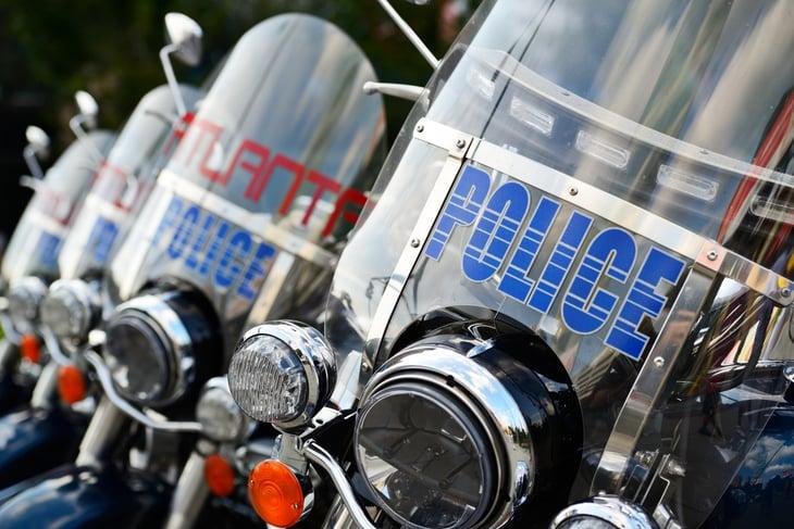 Atlanta police motorcycles