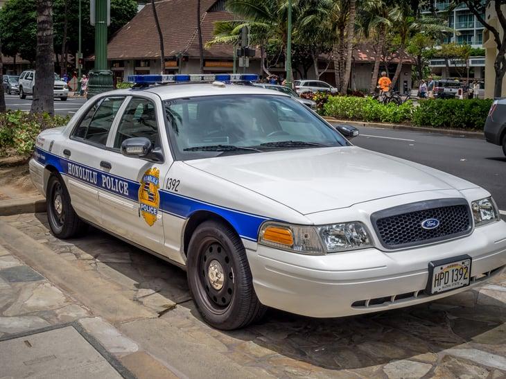 Honolulu police car