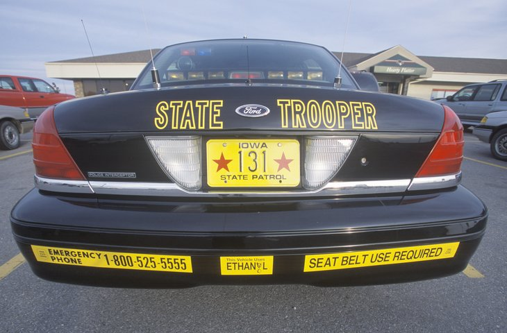 Iowa state trooper patrol car