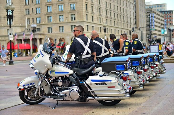 Massachusetts Bay Transportation Authority Police in Boston