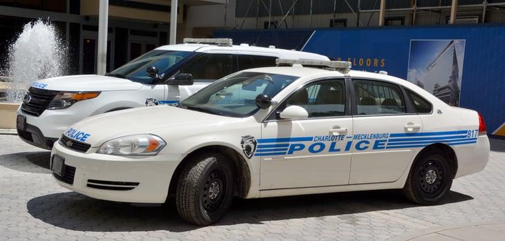 Charlotte-Mecklenburg Police cars in North Carolina