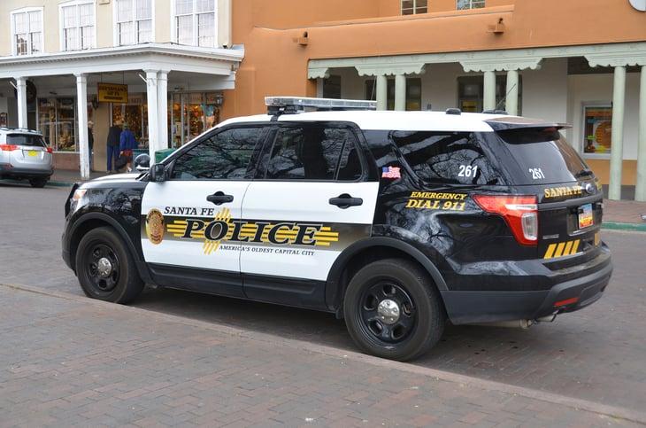 police car in Santa Fe, New Mexico