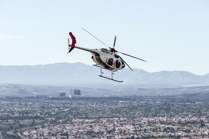 Las Vegas police helicopter