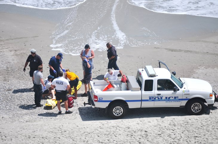 Police and parametics in Myrtle Beach, South Carolina