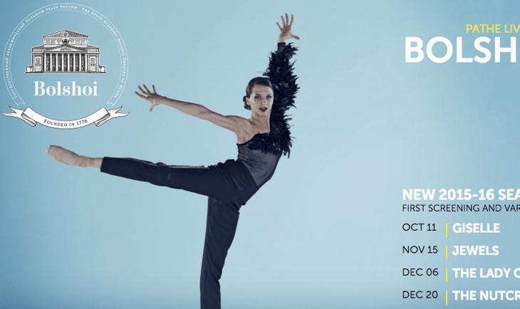 Screen shot from Bolshoi Ballet Cinema website