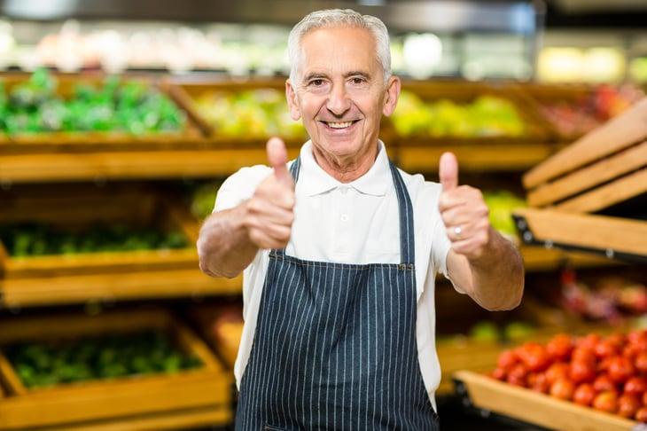 Senior Grocery Worker