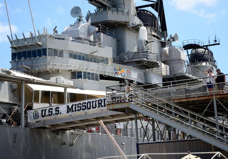 USS Missouri, Pearl Harbor.