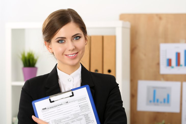 Woman in accounting