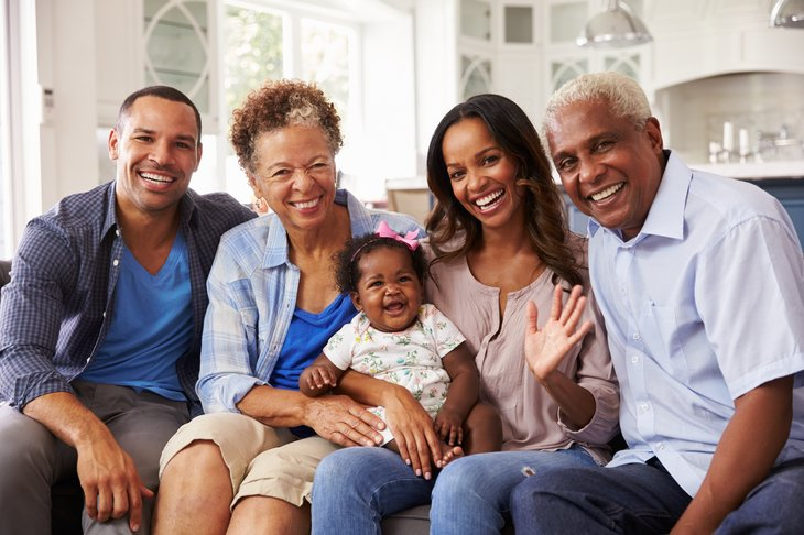 African American 3-generation family