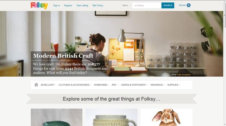 Screenshot: folksy.com