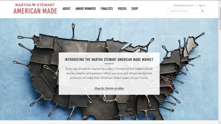 Screenshot: marthastewart.com/americanmade/shop