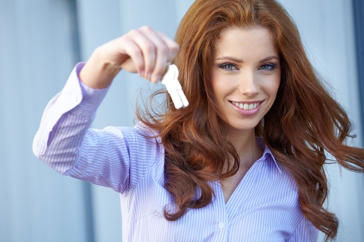 a property manager holds keys