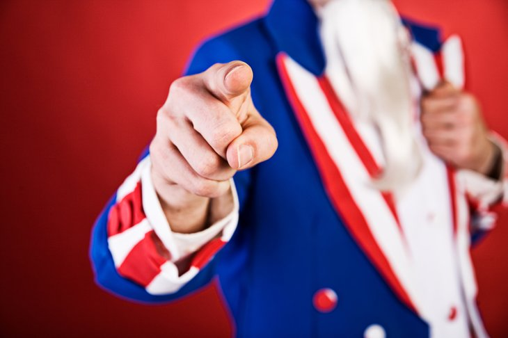 Uncle Sam points his finger