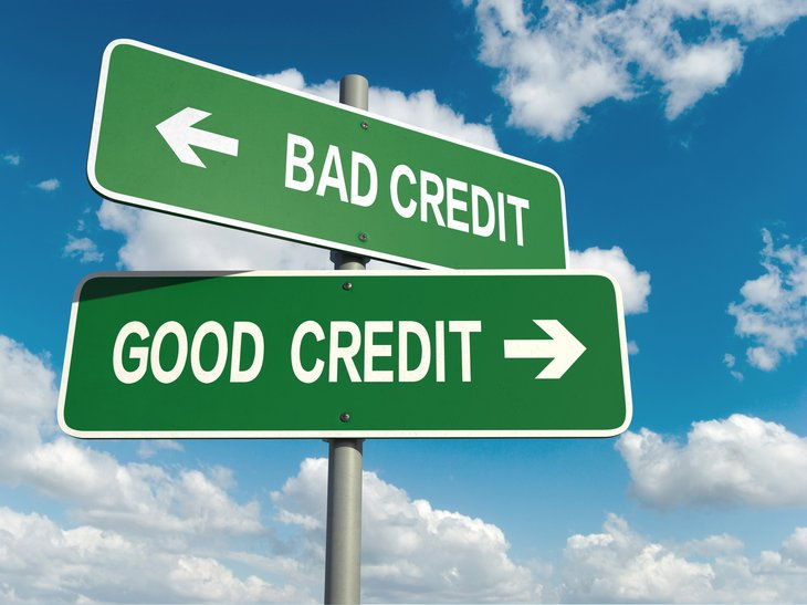 Good credit/bad credit signs