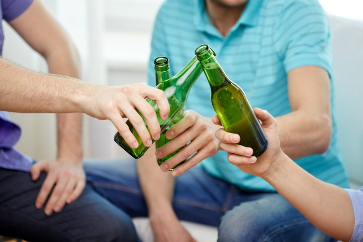 Friends with beer