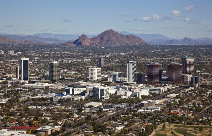 Aerial view of Scottsdale Arizona