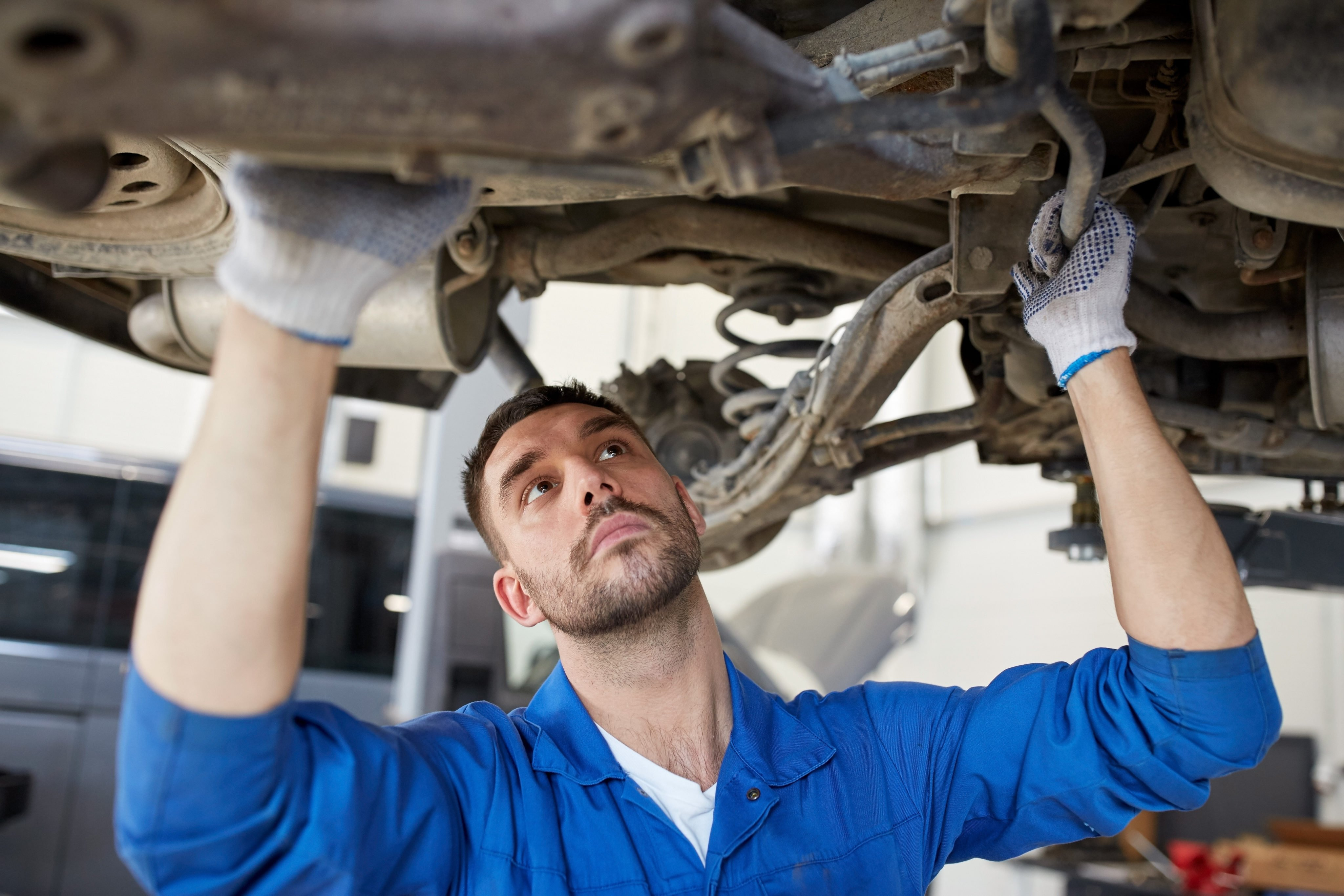 Shutterstock X on Auto Mechanic Car Repair