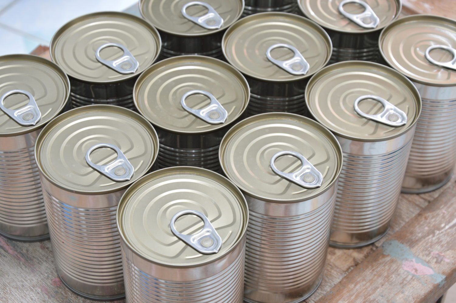 Canned Food In Ration Packs